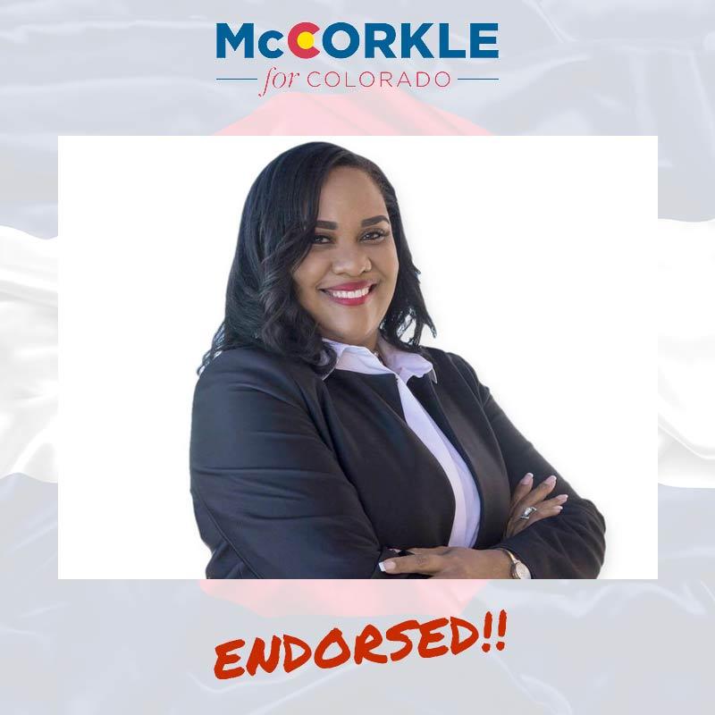 Danielle Young-Kombo endorsement to Ike McCorkle