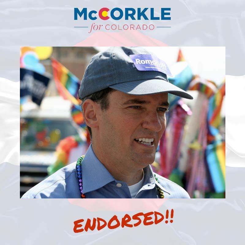 Andrew Romanoff endorsement to Ike McCorkle
