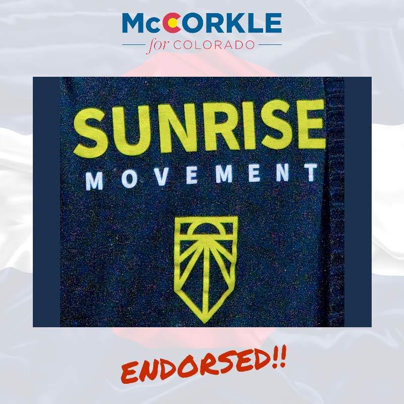 Sunrise Movement CO endorsement to Ike McCorkle